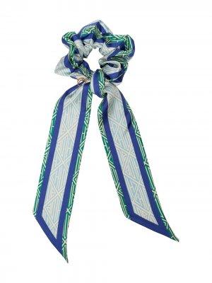 Резинка для волос с лентой Chloé. Цвет: синий