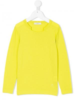 Пуловер с длинными рукавами Paolo Pecora Kids. Цвет: зеленый