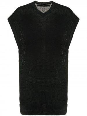 Пуловер в полоску Julius. Цвет: черный