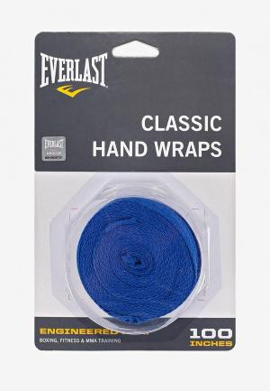 Бинт боксерский Everlast. Цвет: синий