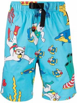Плавки-шорты Under  Sea swim shorts Ripndip. Цвет: синий