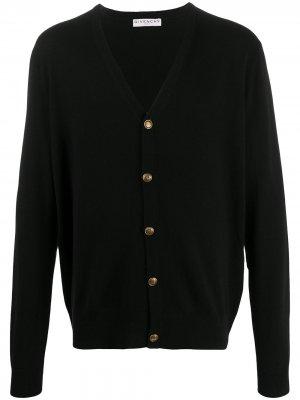 Кашемировый кардиган с V-образным вырезом Givenchy. Цвет: черный