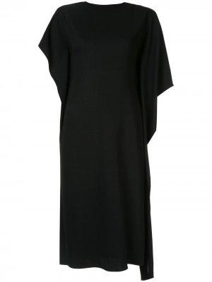 Платье миди асимметричного кроя Ports 1961. Цвет: черный