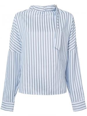 Блузка в полоску Tibi. Цвет: синий