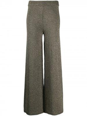 Расклешенные трикотажные брюки Daisy STAUD. Цвет: золотистый