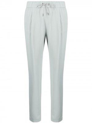 Укороченные зауженные брюки Fabiana Filippi. Цвет: зеленый