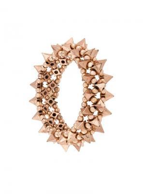 Elasticated spike bracelet Philippe Audibert. Цвет: металлик