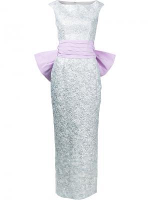 Вечернее платье Argentina Bambah. Цвет: металлик