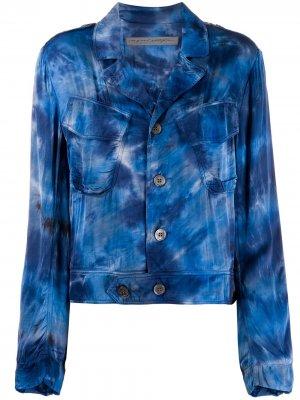 Куртка с принтом тай-дай Raquel Allegra. Цвет: синий