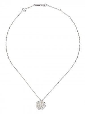 Колье из белого золота с бриллиантами Chopard. Цвет: серебристый