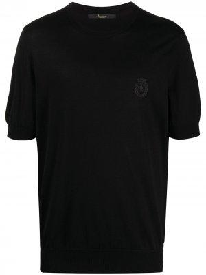 Пуловер с круглым вырезом Billionaire. Цвет: черный