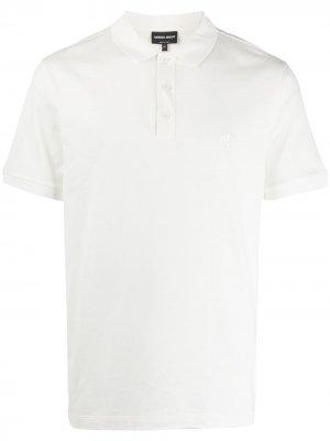 Рубашка-поло с короткими рукавами Giorgio Armani. Цвет: белый