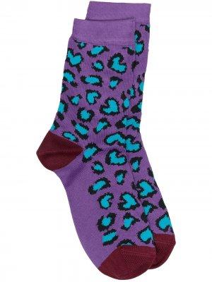 Носки с леопардовым принтом Paul Smith. Цвет: фиолетовый