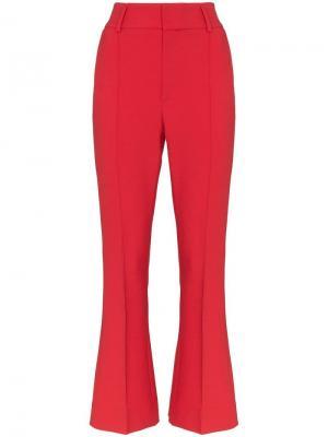 Расклешенные брюки By Timo. Цвет: красный