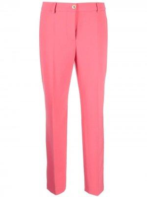 Прямые брюки строгого кроя Boutique Moschino. Цвет: розовый