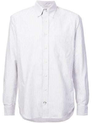 Классическая рубашка в полоску Gitman Vintage. Цвет: серый