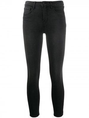 LAgence укороченные джинсы скинни Margot L'Agence. Цвет: черный