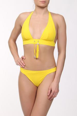 Купальник раздельный Rcrescentini Beach Couture. Цвет: желтый