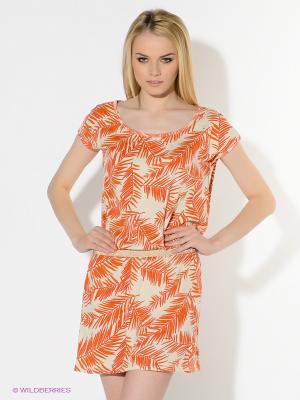 Платье American Outfitters. Цвет: оранжевый, золотистый, кремовый
