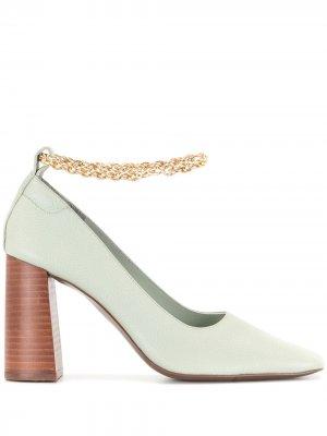 Туфли-лодочки Xali III с цепочками Senso. Цвет: зеленый