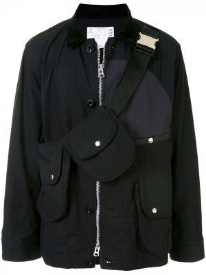 Куртка с поясной сумкой Sacai. Цвет: черный