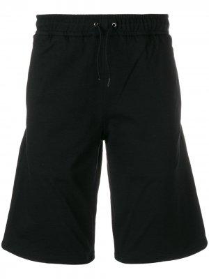 Велосипедные джинсовые шорты Versus. Цвет: черный
