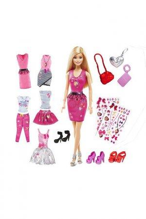 Набор Барби 5 стилей Barbie. Цвет: бордовый