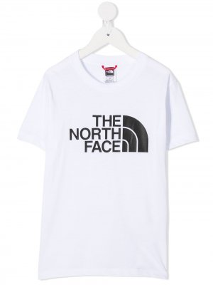 Футболка с логотипом The North Face Kids. Цвет: белый