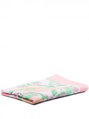 Плед с цветочным принтом Helmstedt. Цвет: розовый