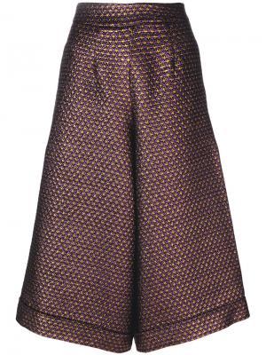 Расклешенные укороченные брюки Ultràchic. Цвет: розовый