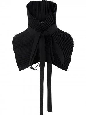 Плиссированный воротник с завязками Ann Demeulemeester. Цвет: черный