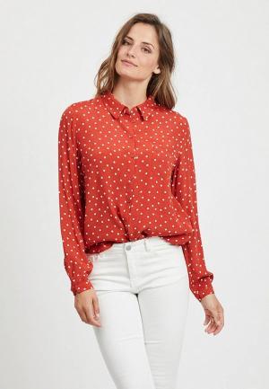Блуза Vila. Цвет: красный
