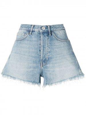 Джинсовые шорты с эффектом потертости 3x1. Цвет: синий
