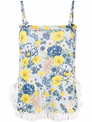 Пижама с цветочным принтом Viktor & Rolf. Цвет: синий