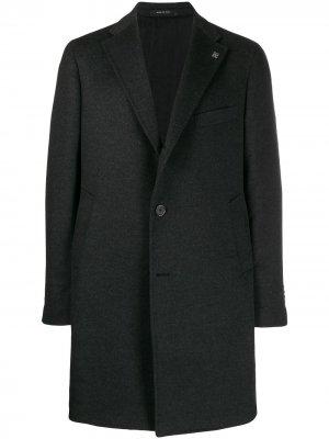 Однобортное пальто Tagliatore. Цвет: серый
