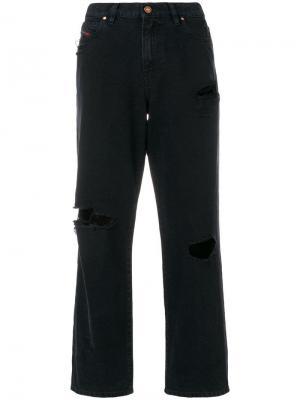Укороченные джинсы бойфренды Diesel. Цвет: черный