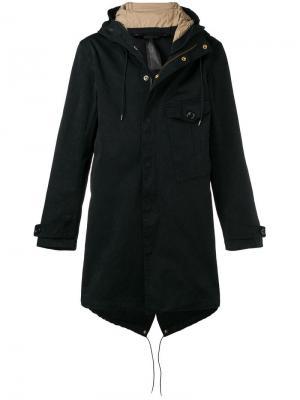 Hooded parka coat Ten C. Цвет: синий