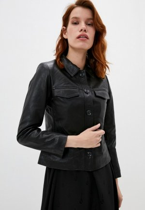 Куртка кожаная Zadig & Voltaire. Цвет: черный
