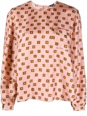 Блузка с геометричным принтом Aspesi. Цвет: розовый