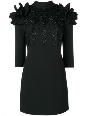 Короткое коктейльное платье Elisabetta Franchi. Цвет: черный
