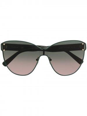 Солнцезащитные очки с эффектом градиента Longchamp. Цвет: зеленый
