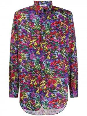 Рубашка с принтом Engineered Garments. Цвет: зеленый