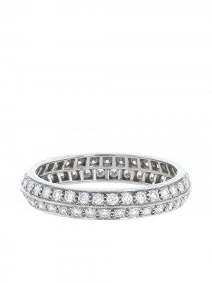 Кольцо 2010-го года из платины с бриллиантами Van Cleef & Arpels. Цвет: белый