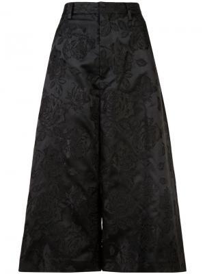 Жаккардовые кюлоты Noir. Цвет: черный