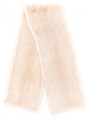 Classic fur scarf Liska. Цвет: белый