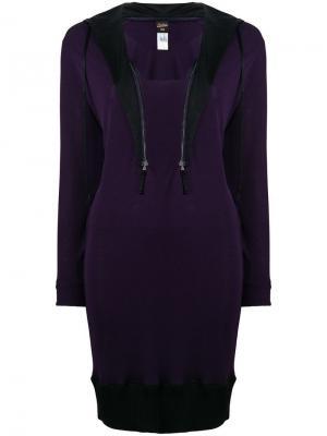 Платье-свитер с воротом на молнии Jean Paul Gaultier Pre-Owned. Цвет: фиолетовый
