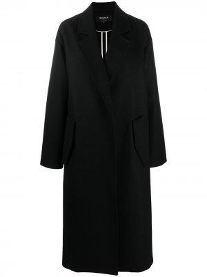 Пальто оверсайз с потайной застежкой Rochas. Цвет: черный