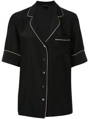 Пижамная рубашка на пуговицах Kiki de Montparnasse. Цвет: черный