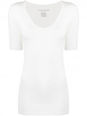 Приталенная футболка с V-образным вырезом Majestic Filatures. Цвет: белый