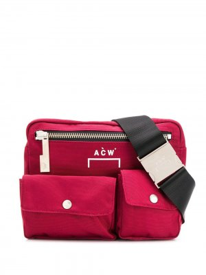 Поясная сумка с логотипом A-COLD-WALL*. Цвет: красный